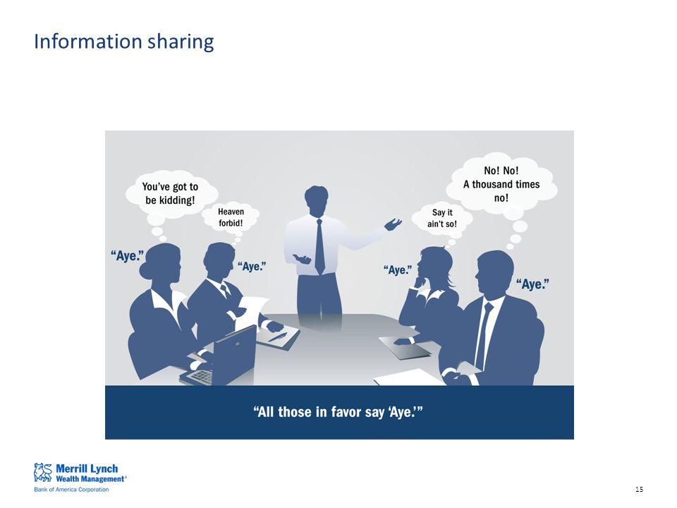15 Information sharing