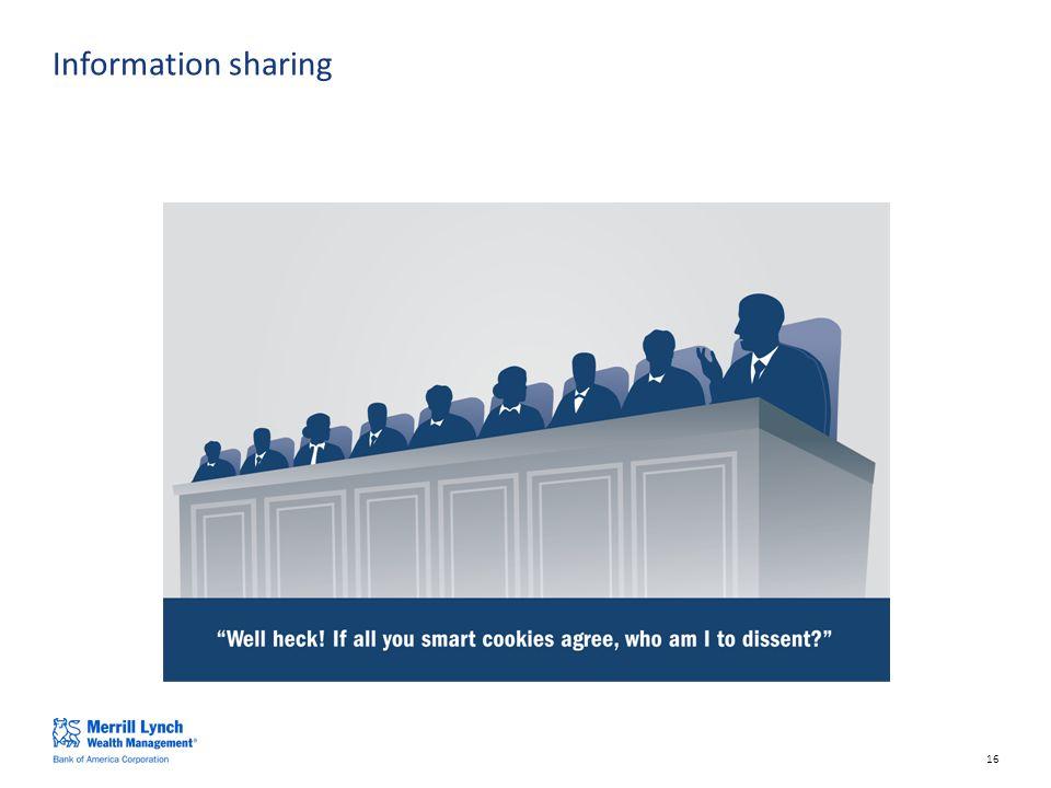 16 Information sharing