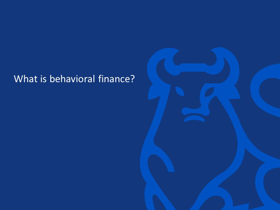 What is behavioral finance?