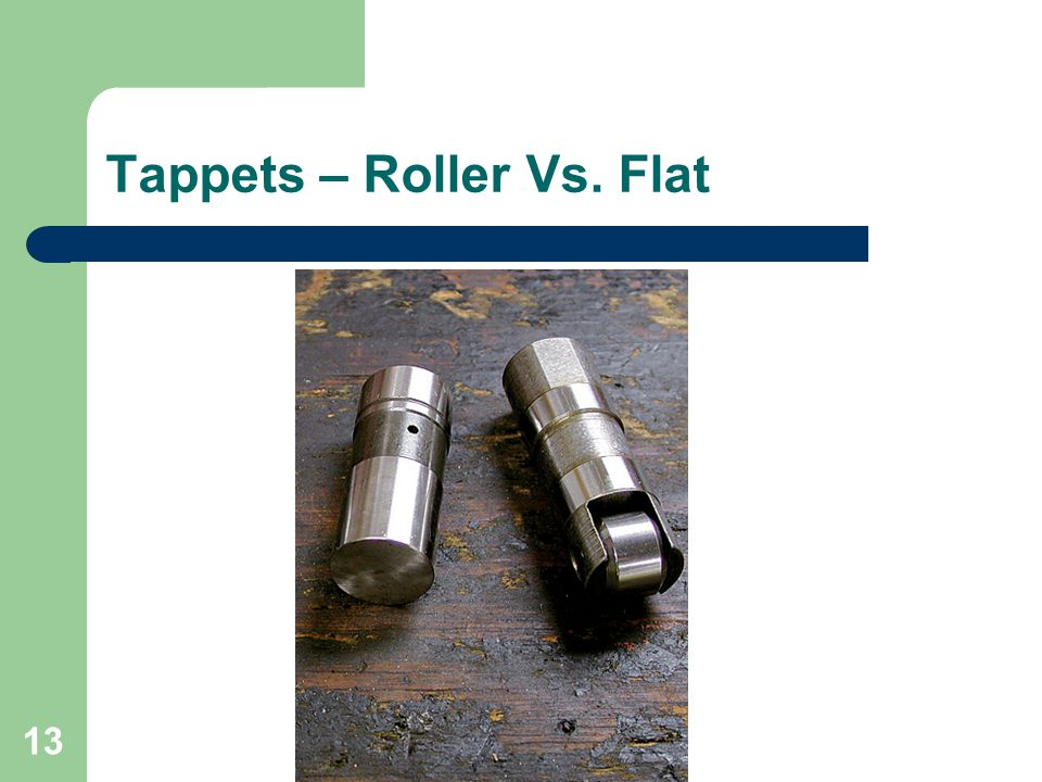 13 Tappets – Roller Vs. Flat