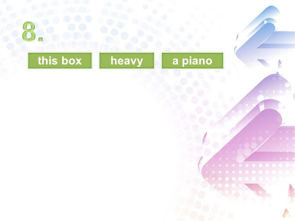 this boxheavya piano