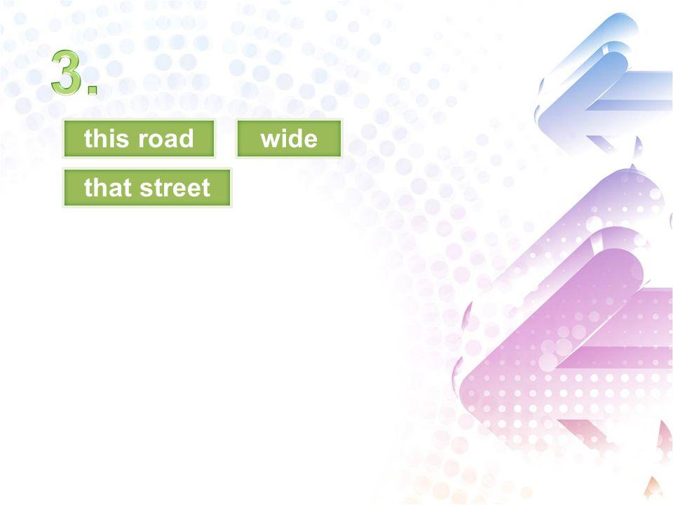 this roadwide that street