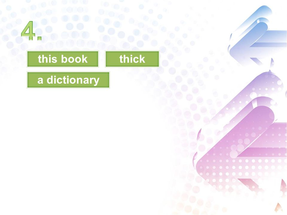 this bookthick a dictionary