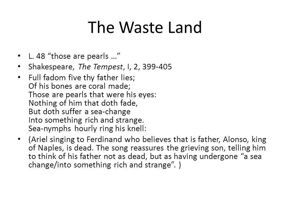The Waste Land L.