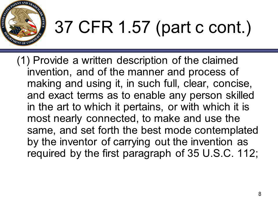 19 Possible Options for Overcoming 35 USC 112 Rejection If the application as originally filed incorporates the sequence by reference in compliance with 37 CFR 1.57(b)(i.e., uses proper terms and clearly identifies document), or EVIDENCES A CLEAR INTENT to incorporate the sequence by reference, applicants may overcome the rejection by amending the specification to incorporate the essential material.