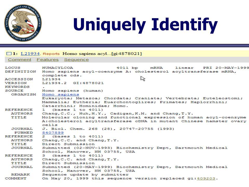 46 Uniquely Identify