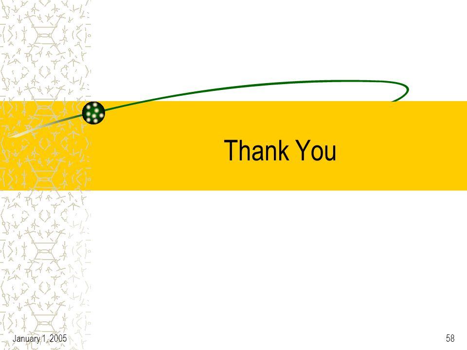 January 1, 200558 Thank You