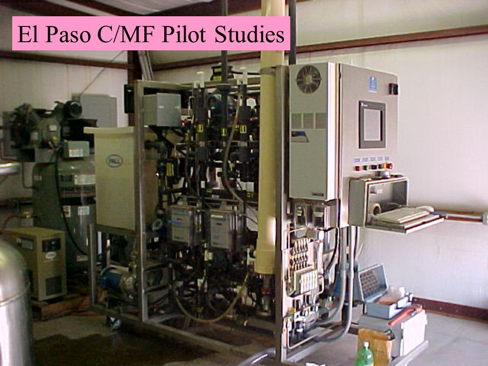 Coagulation-Filtration - Chwirka & Thomson 50 El Paso Pilot Studies Only Pall MF tested Ferric dose 10 mg/L pH lowered to 6.8 with CO2