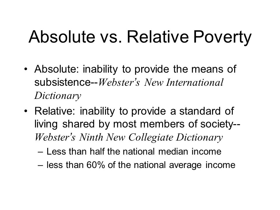 Absolute vs.