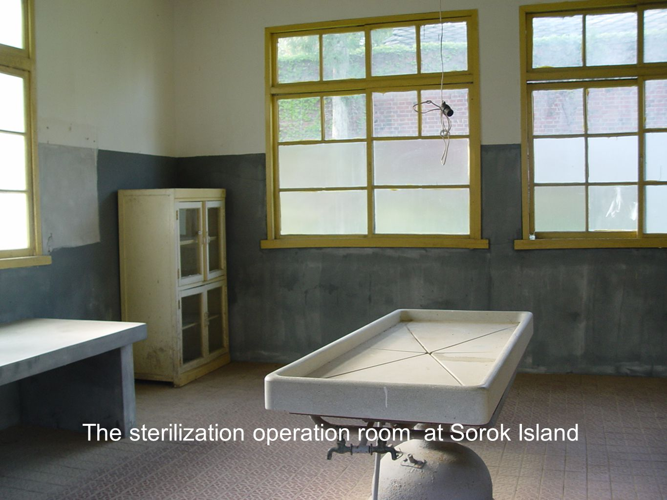 The sterilization operation room at Sorok Island