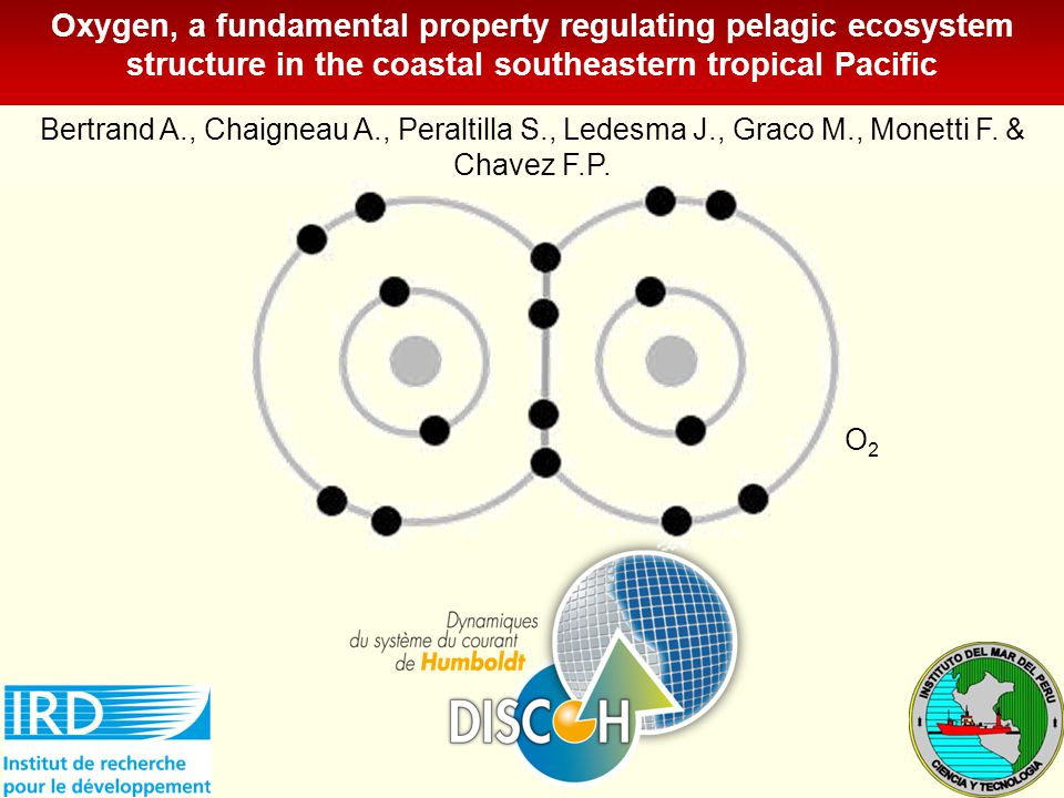 Oxygen, a fundamental property regulating pelagic ecosystem structure in the coastal southeastern tropical Pacific Bertrand A., Chaigneau A., Peraltilla S., Ledesma J., Graco M., Monetti F.