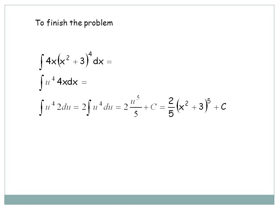 Example 1a. Find Or Substitute just for dxSubstitute for 4xdx As you can see, the end result is the same: