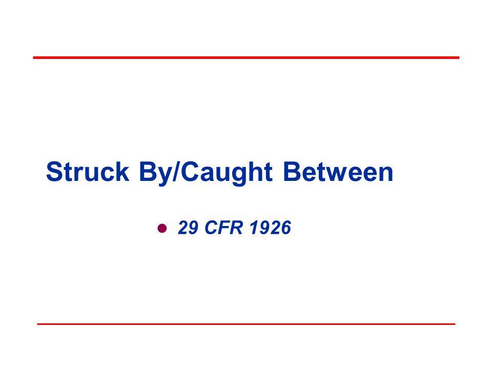 Struck By/Caught Between 29 CFR 1926