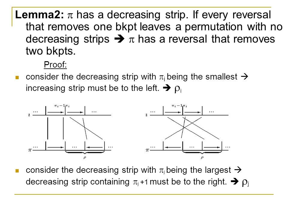 Lemma2:  has a decreasing strip.