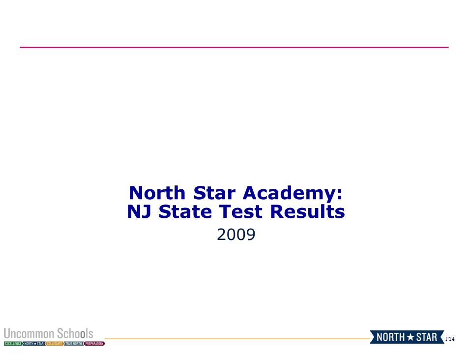 P14 North Star Academy: NJ State Test Results 2009