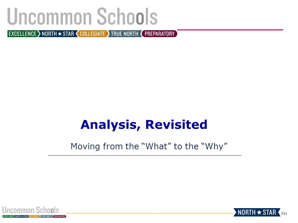 """P43 Analysis, Revisited Moving from the """"What"""" to the """"Why"""""""