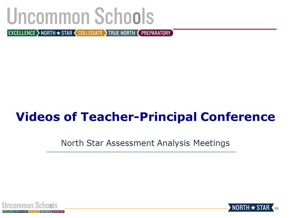 P9 Videos of Teacher-Principal Conference North Star Assessment Analysis Meetings