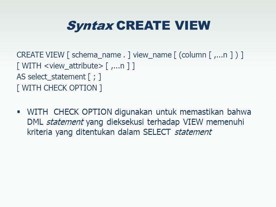 ITV untuk Scalar SELECT LTRIM (RTRIM (Column_Name)) FROM Table_Name SELECT dbo.