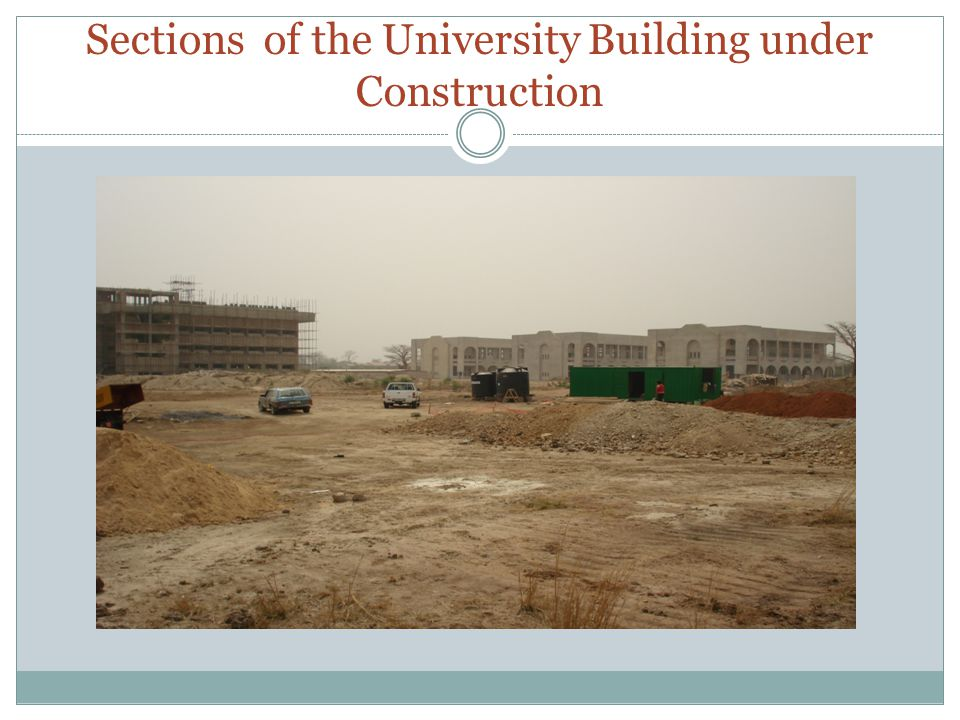 Sections of the University Building under Construction
