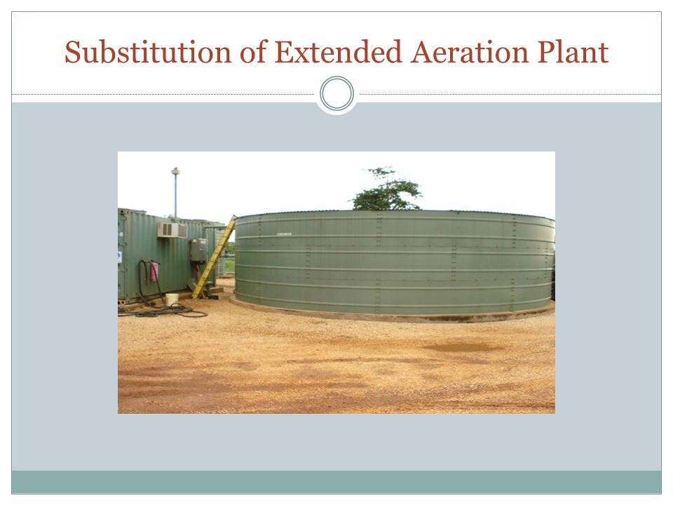 Substitution of Extended Aeration Plant