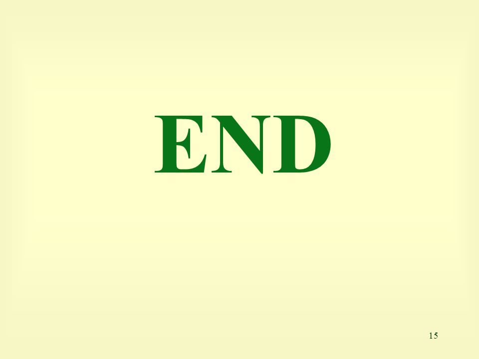 15 END