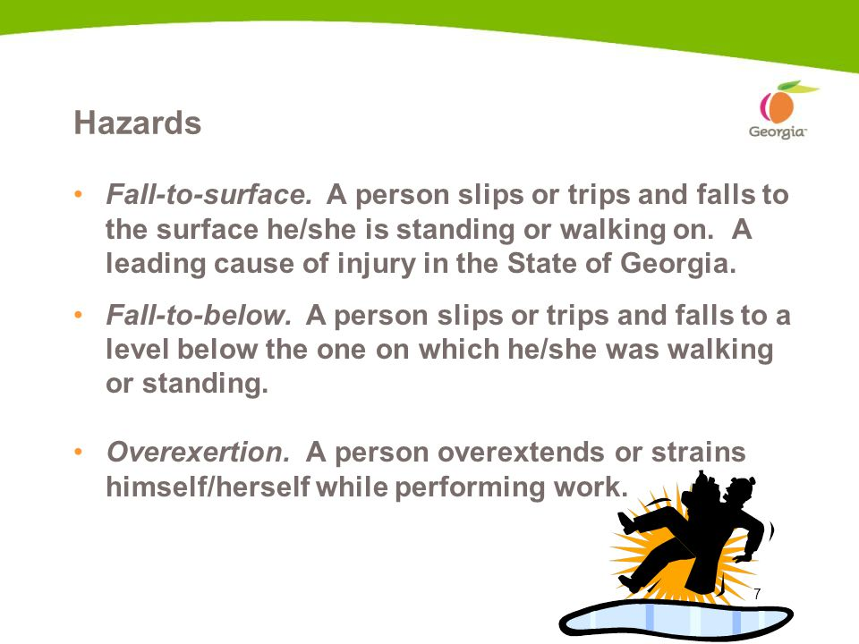 7 Hazards Fall-to-surface.