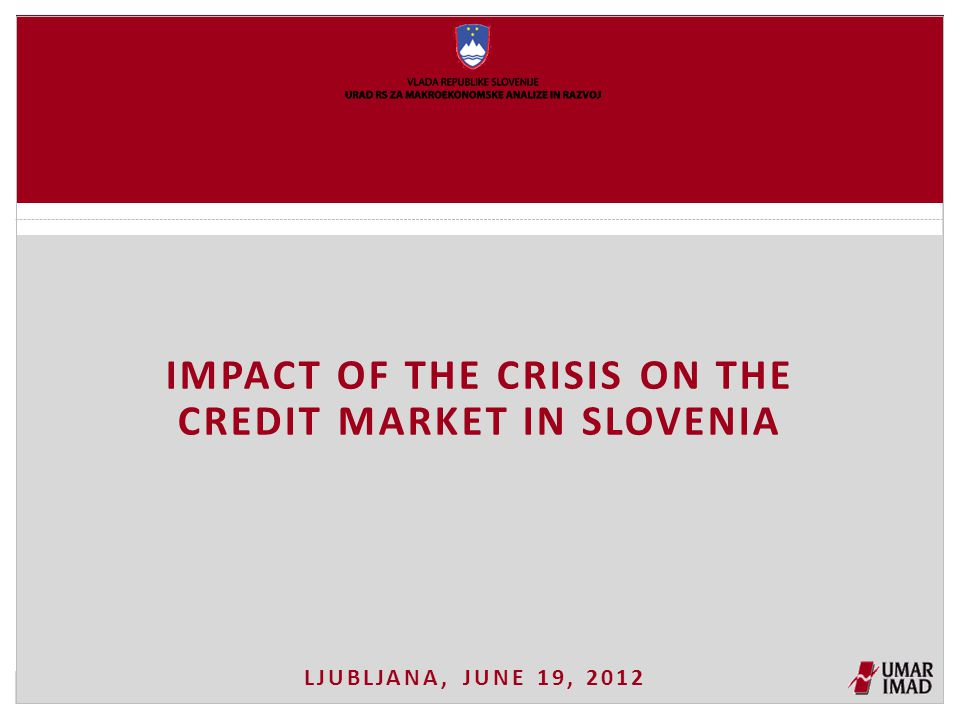 Year-on-year growth rates of loans to non-banking sectors in Slovenia continue to decrease Source: BoS, calculations by IMAD.