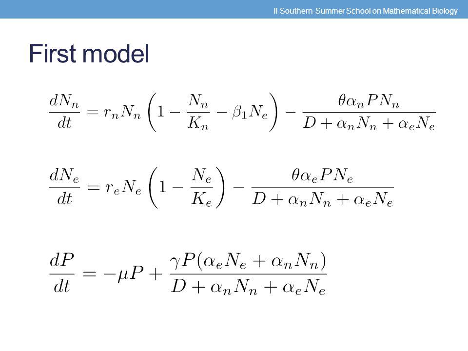 First model II Southern-Summer School on Mathematical Biology
