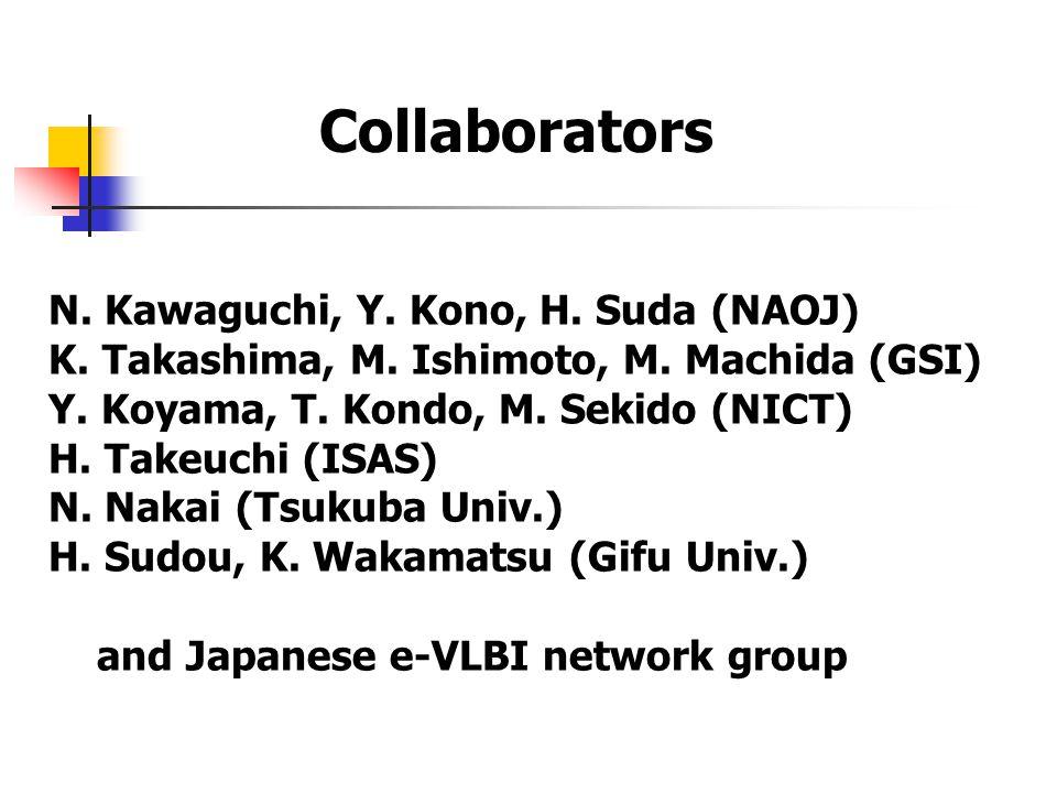 N. Kawaguchi, Y. Kono, H. Suda (NAOJ) K. Takashima, M.