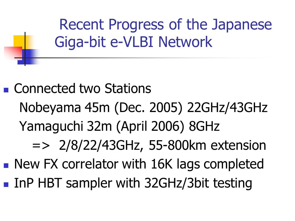 Recent Progress of the Japanese Giga-bit e-VLBI Network Connected two Stations Nobeyama 45m (Dec.