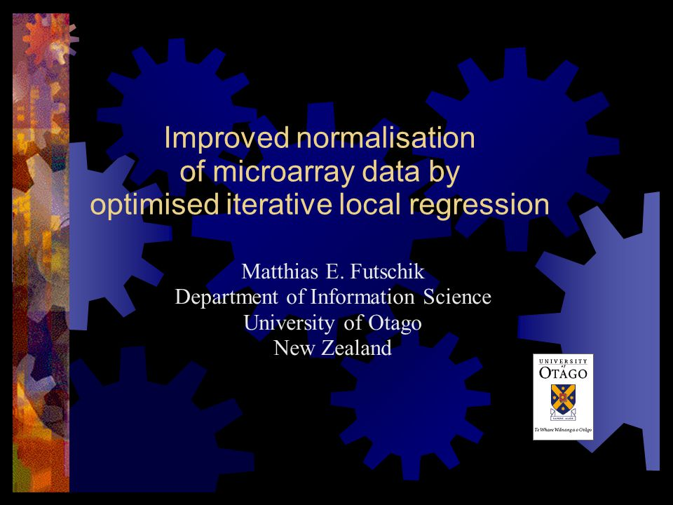 Improved normalisation of microarray data by optimised iterative local regression Matthias E.
