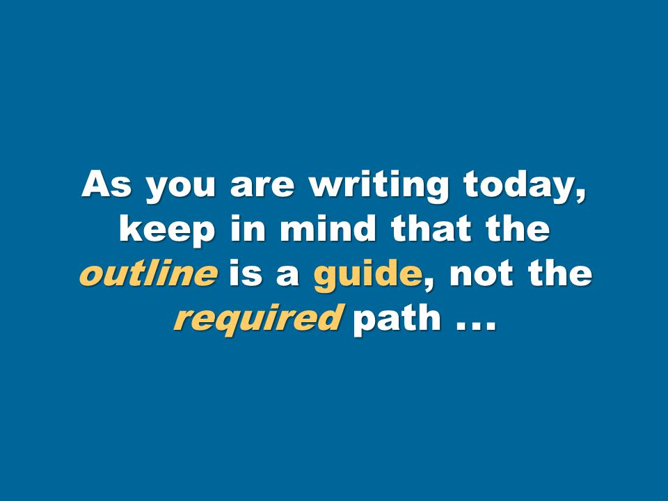 Write the third stage of prewriting—the rough draft of your essay.
