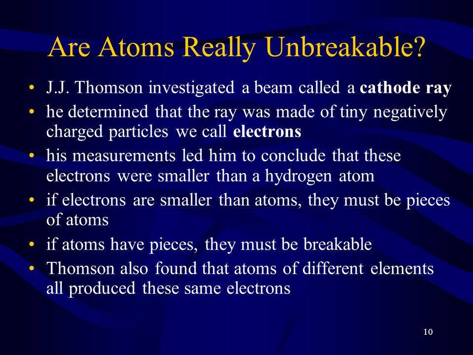 10 Are Atoms Really Unbreakable.J.J.