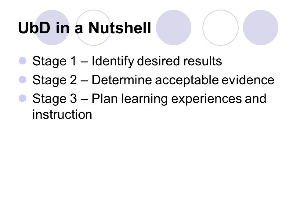 Stage 1: Identify Desired Results Content Standards and Knowledge & Skills Enduring Understandings Essential Questions