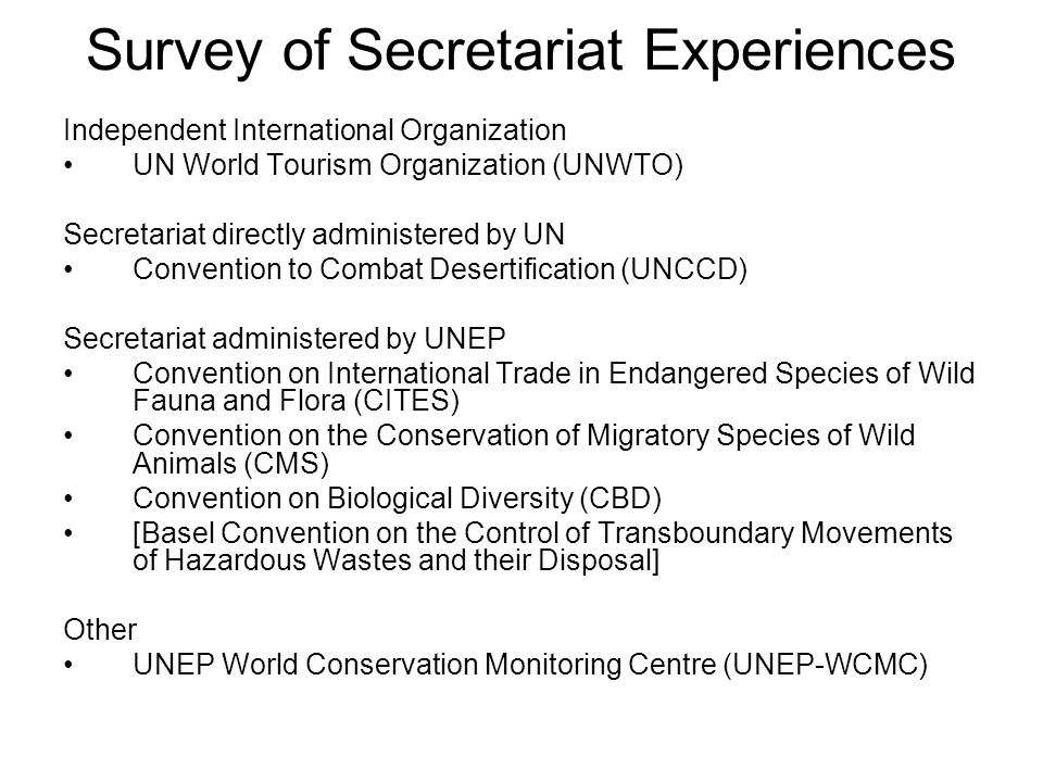 UNWTO Background –1946/47: Established as an NGO (IUOTO) –1970: Transformed into an independent IGO –2001: Start investigating option of becoming a UN Specialized Agency –UNGA Res.