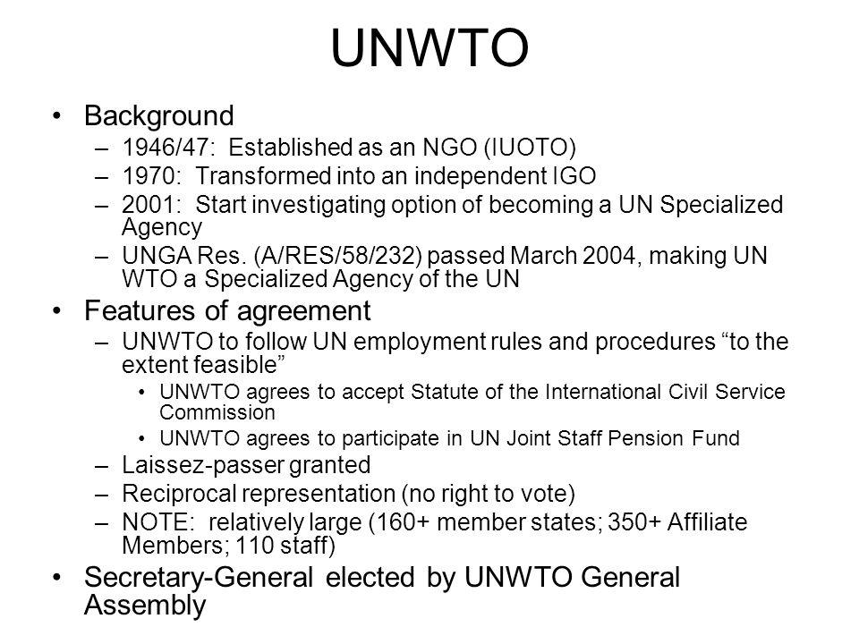 UNCCD Background –Permanent Secretariat authorized by Convention (Art.