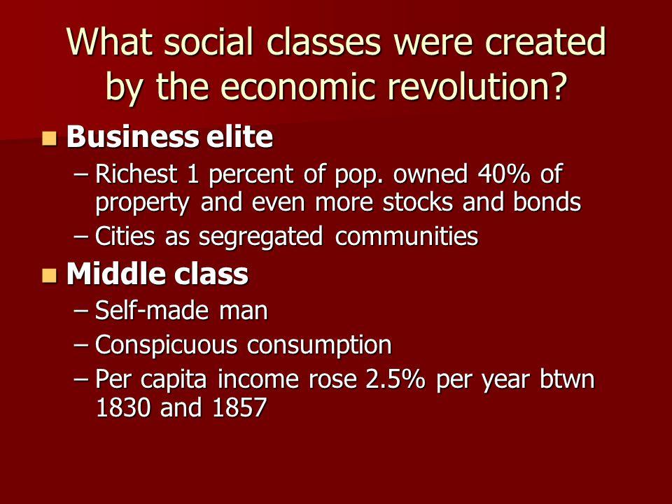 Business elite Business elite –Richest 1 percent of pop.