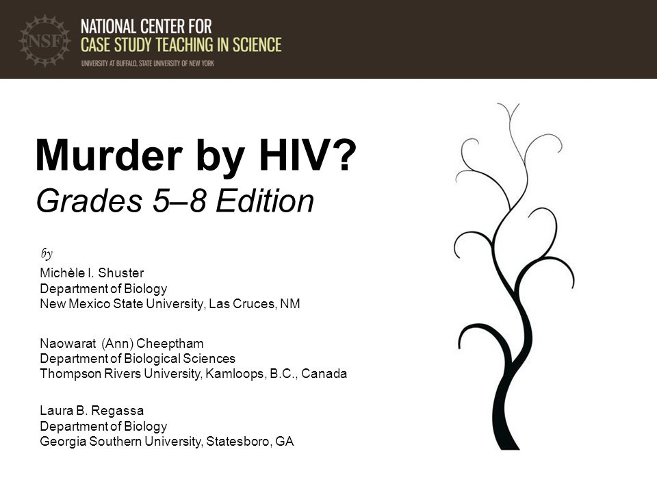 Murder by HIV. Grades 5–8 Edition by Michèle I.