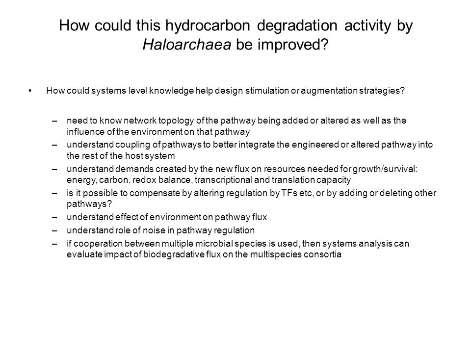 How could this hydrocarbon degradation activity by Haloarchaea be improved.