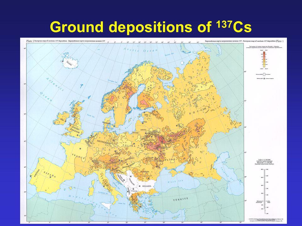 17 Ground depositions of 137 Cs