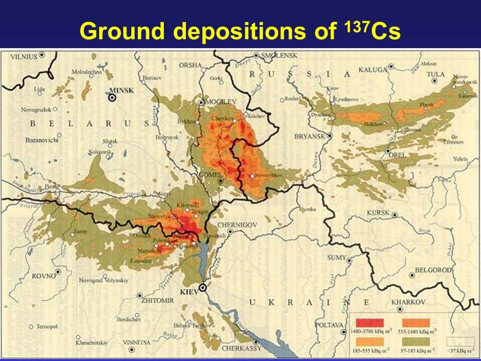 18 Ground depositions of 137 Cs