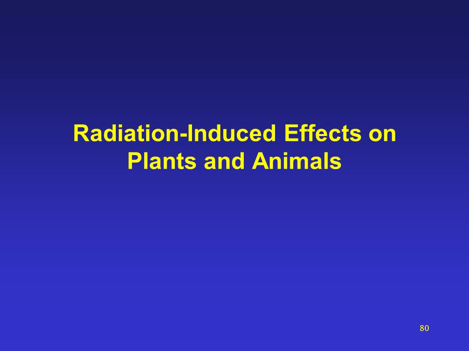 80 Radiation-Induced Effects on Plants and Animals