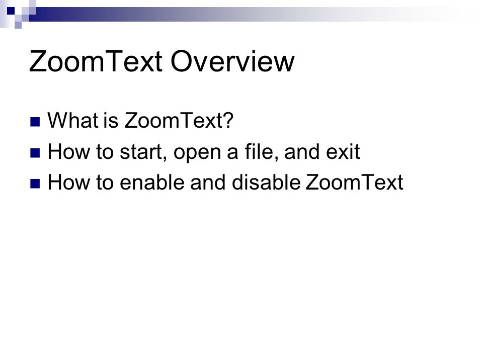 ZoomText Overview What is ZoomText.