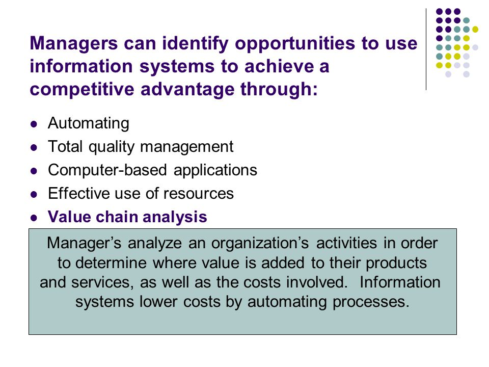Information systems have many impacts on competitive forces.