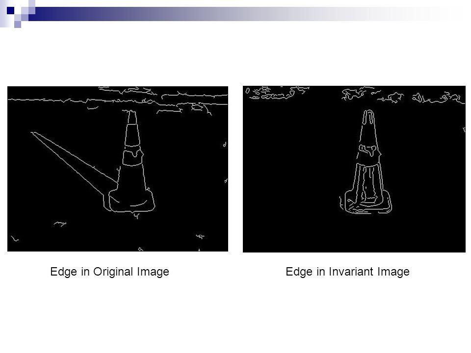 Edge in Original Image Edge in Invariant Image