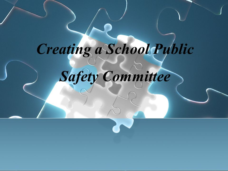 Creating a School Public Safety Committee