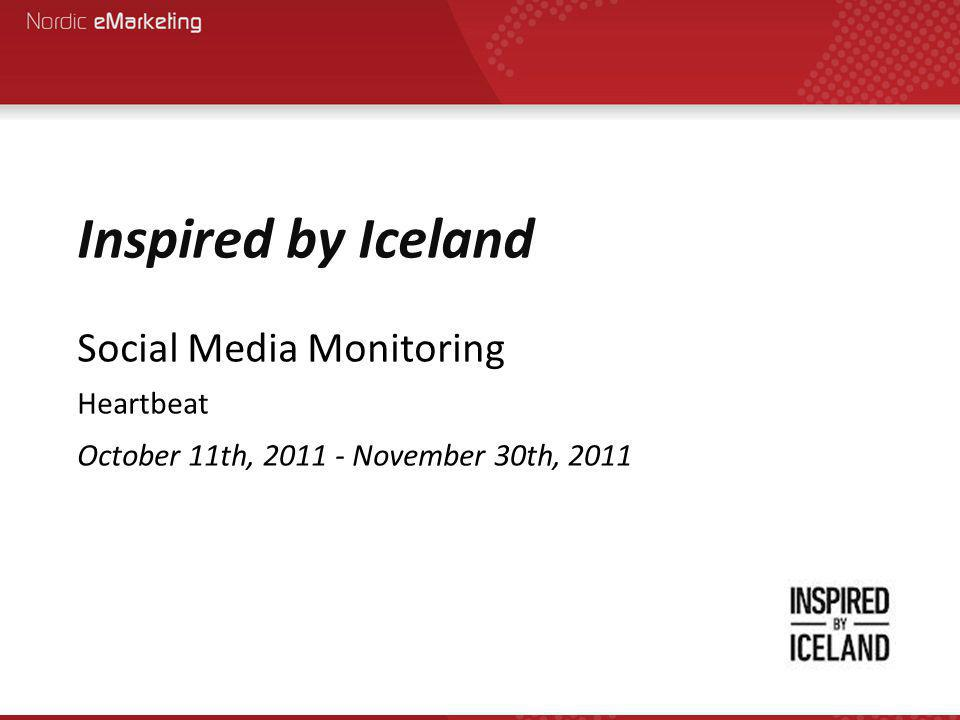 Conclusion The main issue is that coverage related to Inspired by Iceland phrases, such as 'Iceland Ad', 'Iceland Advert', Iceland Campaign', not only taint the results, but also show how much the Inspired campaign is being ignored online, especially in the UK There are very little negative results for the Inspired campaign, which is good.
