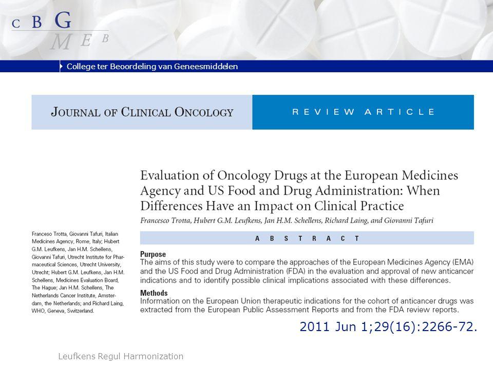 College ter Beoordeling van Geneesmiddelen Leufkens Regul Harmonization 2011 Jun 1;29(16):2266-72.