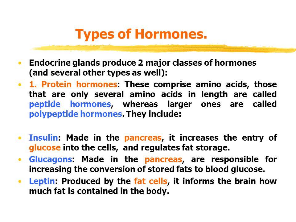 Types of Hormones.