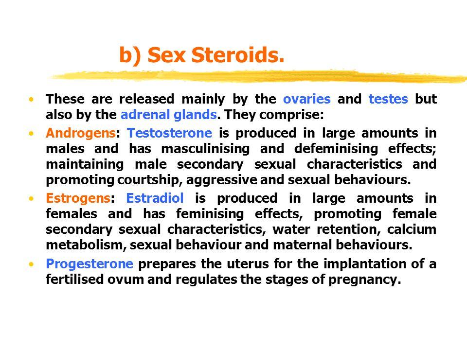 b) Sex Steroids.
